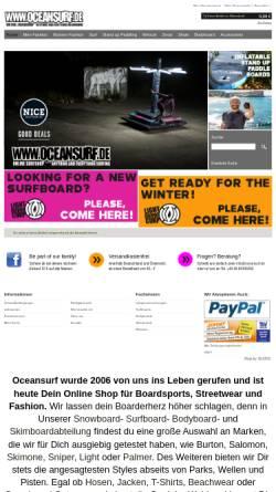 Vorschau der mobilen Webseite www.oceansurf.de, GTA Distribution GmbH & Co. KG