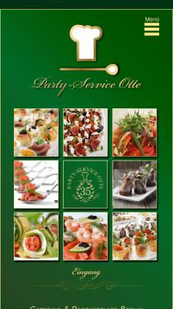 Vorschau der mobilen Webseite www.partyservice-otte.de, Partyservice-Otte