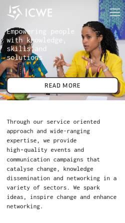 Vorschau der mobilen Webseite www.icwe.net, Icwe GmbH