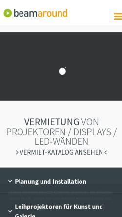 Vorschau der mobilen Webseite www.beamaround.de, BeamAround
