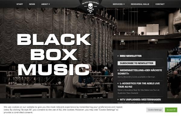 Vorschau von www.black-box-music.de, Black Box Music Veranstaltungstechnik GmbH