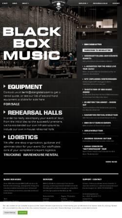 Vorschau der mobilen Webseite www.black-box-music.de, Black Box Music Veranstaltungstechnik GmbH