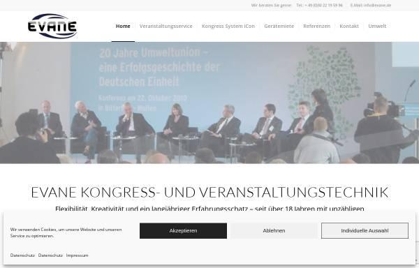 Vorschau von evane.de, Evane Kongress- und Veranstaltungstechnik