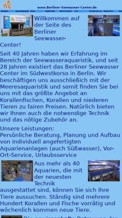 Vorschau der mobilen Webseite www.berliner-seewasser-center.de, Berliner-Seewasser-Center
