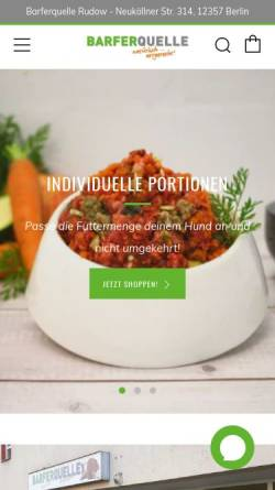 Vorschau der mobilen Webseite www.futter-quelle.de, Moni´s Futter-Quelle
