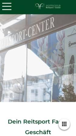 Vorschau der mobilen Webseite www.reitsport-center-hoffschild.de, Reitsport-Center-Hoffschild