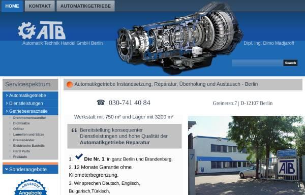 Vorschau von www.atb-berlin.com, ATB Automatik Technik Handel GmbH