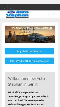 Vorschau der mobilen Webseite www.auto-stephan.de, Auto Stephan KG