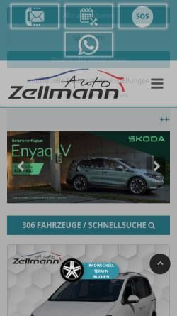 Vorschau der mobilen Webseite www.auto-zellmann.de, Auto Zellmann GmbH