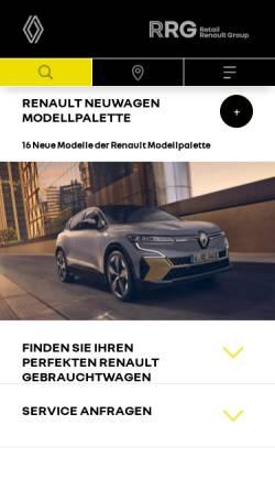 Vorschau der mobilen Webseite www.renault-berlin.de, Renault Niederlassungen Berlin