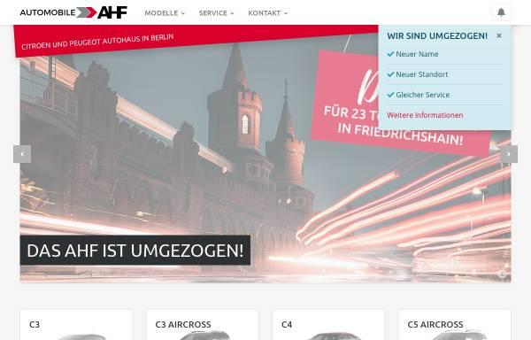 Vorschau von www.automobile-ahf.de, Thomas Arndt GmbH