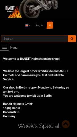Vorschau der mobilen Webseite www.motorbike.de, Bandit Helme GmbH Berlin