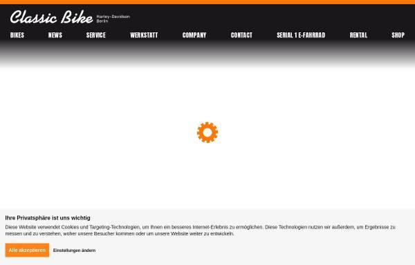 Vorschau von www.classic-bike.de, Classic Bike Harley Davidson Berlin