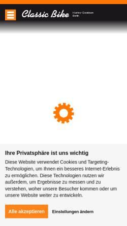 Vorschau der mobilen Webseite www.classic-bike.de, Classic Bike Harley Davidson Berlin