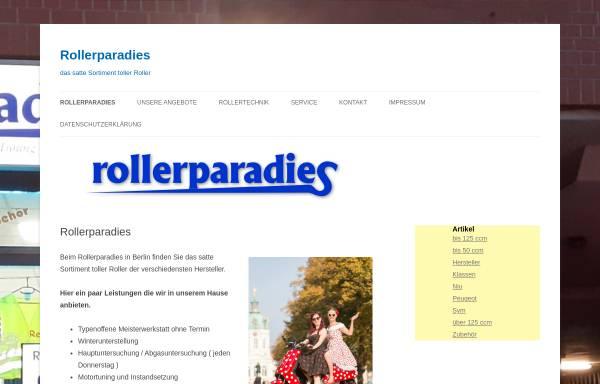 Vorschau von www.rollerparadies.de, Das Rollerparadies