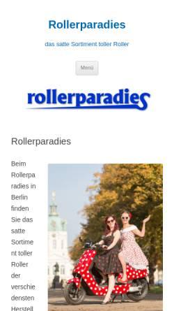 Vorschau der mobilen Webseite www.rollerparadies.de, Das Rollerparadies