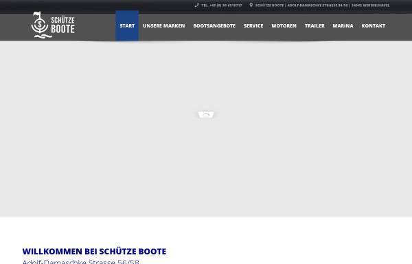 Vorschau von www.schuetze-boote-berlin.de, Schütze Bootshandel