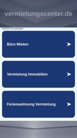 Vorschau der mobilen Webseite www.vermietungscenter.de, Vermietungs-Center