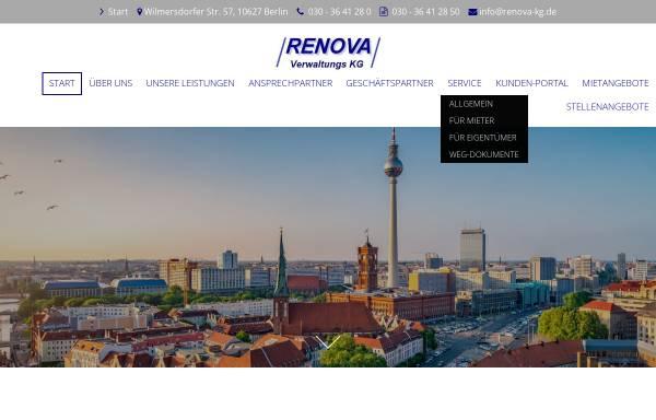Vorschau von www.renova-kg.de, Renova Gesellschaft für Immobilien und Baubetreuung mbH & Co. Verwaltungs KG