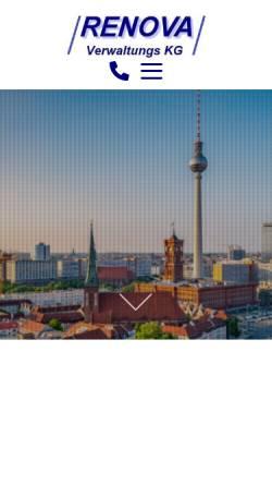 Vorschau der mobilen Webseite www.renova-kg.de, Renova Gesellschaft für Immobilien und Baubetreuung mbH & Co. Verwaltungs KG