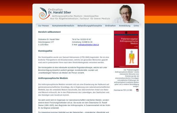 Vorschau von www.doktor-siber.at, Ordination Dr. Harald Siber, 1070 Wien