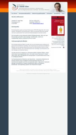Vorschau der mobilen Webseite www.doktor-siber.at, Ordination Dr. Harald Siber, 1070 Wien