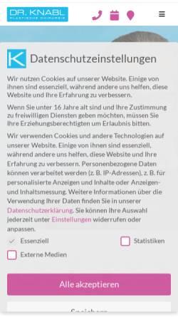 Vorschau der mobilen Webseite www.drknabl.at, Dr.Jörg Knabl