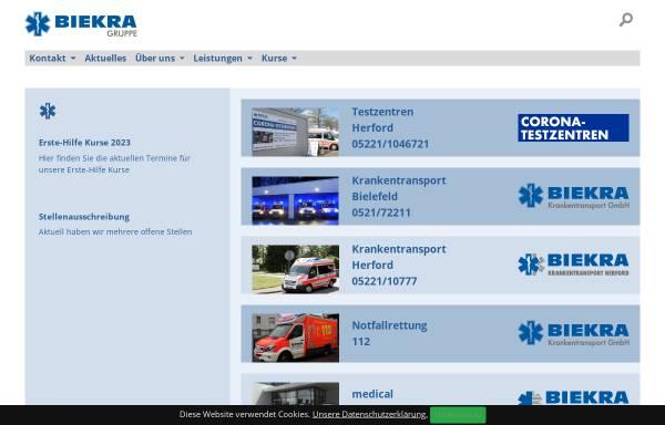 Vorschau von www.biekra.de, Biekra Krankentransport GmbH