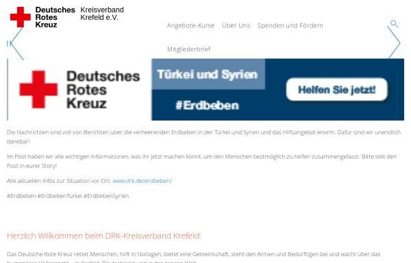 Vorschau von www.drk-krefeld.de, DRK Kreisverband Krefeld e.V.