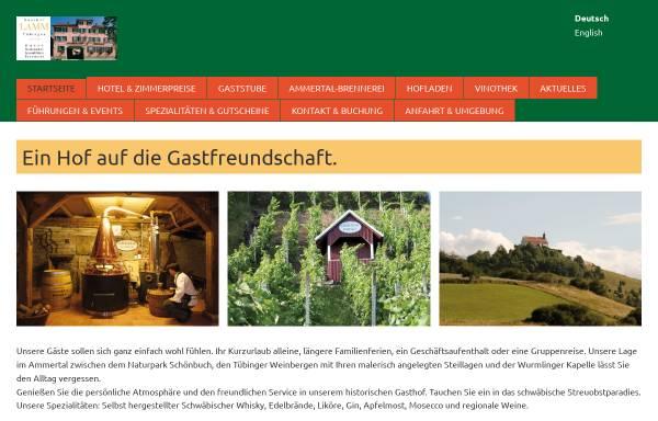 Vorschau von www.lamm-tuebingen.de, Gasthof-Hotel Lamm