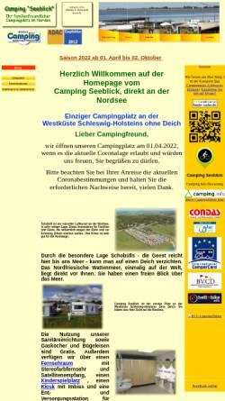 Vorschau der mobilen Webseite www.camping-seeblick.de, Camping Seeblick
