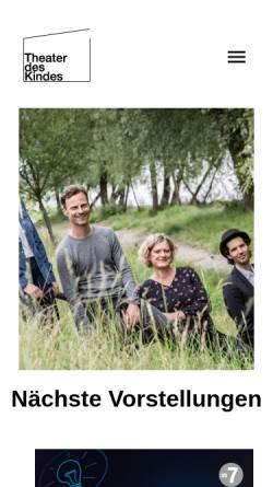 Vorschau der mobilen Webseite www.theater-des-kindes.at, Theater des Kindes