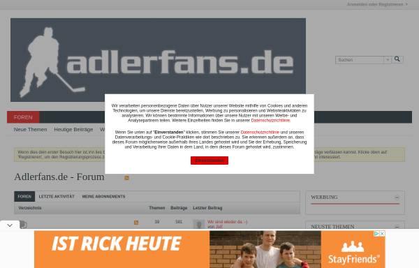 Vorschau von www.adlerfans.de, Alderfans.de