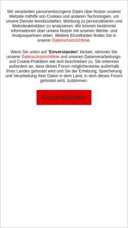 Vorschau der mobilen Webseite www.adlerfans.de, Alderfans.de