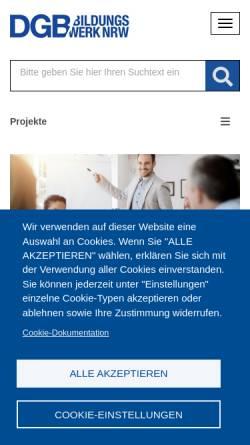 Vorschau der mobilen Webseite www.alle-lernen.net, Projekt a+l.l+e - Arbeiten + Lernen an Lippe + Emscher