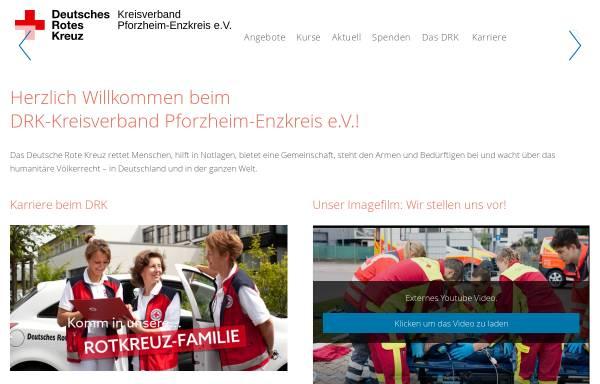 Vorschau von www.drk-pforzheim.de, Deutsches Rotes Kreuz - Kreisverband Pforzheim e.V.