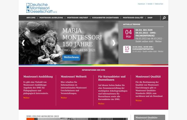 Vorschau von www.deutsche-montessori-gesellschaft.de, Deutsche Montessori Gesellschaft e.V.