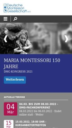 Vorschau der mobilen Webseite www.deutsche-montessori-gesellschaft.de, Deutsche Montessori Gesellschaft e.V.