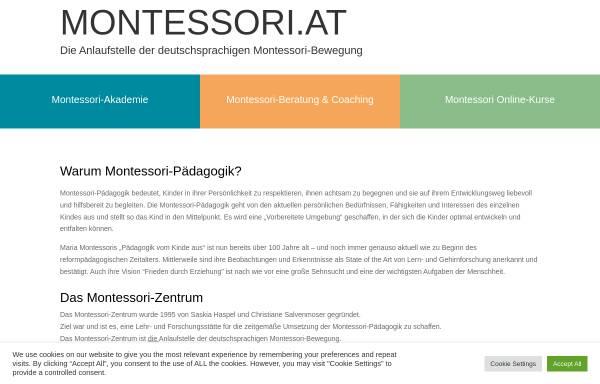 Vorschau von www.montessori.at, Montessori-Zentrum Wien
