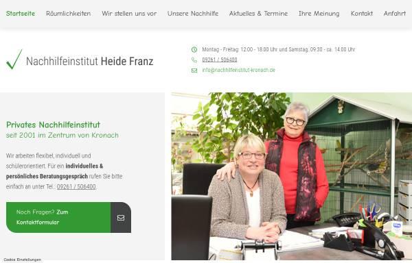 Vorschau von www.nachhilfeinstitut-kronach.de, Nachhilfeinstitut Heide Franz