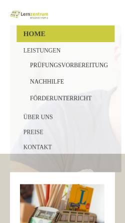 Vorschau der mobilen Webseite www.lernzentrum-nord.de, Lernzentrum-Nord