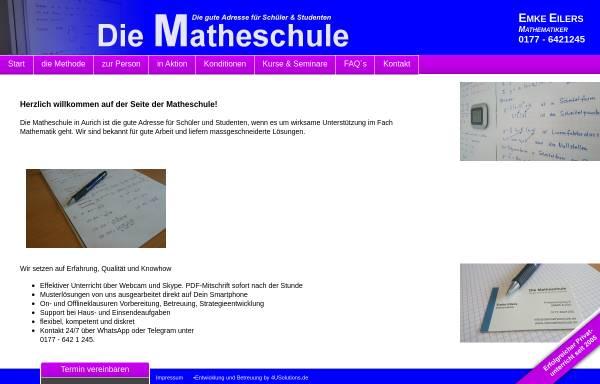 Vorschau von www.diematheschule.de, Die Matheschule
