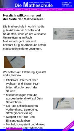 Vorschau der mobilen Webseite www.diematheschule.de, Die Matheschule