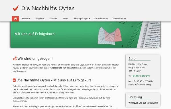 Vorschau von www.die-nachhilfe-oyten.de, Die Nachhilfe Oyten