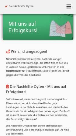 Vorschau der mobilen Webseite www.die-nachhilfe-oyten.de, Die Nachhilfe Oyten