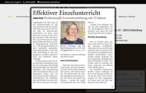 Vorschau von www.primaer-nachhilfe.de, Primär