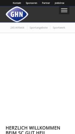 Vorschau der mobilen Webseite www.gut-heil-neumuenster.de, SC Gut Heil Neumünster von 1881 e.V.