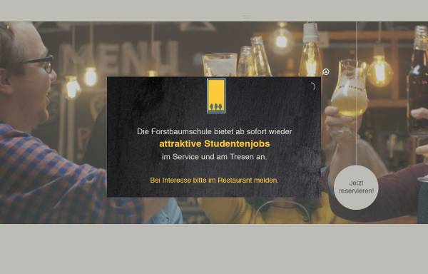 Vorschau von www.forstbaumschule.de, Restaurant und Park-Café Forstbaumschule
