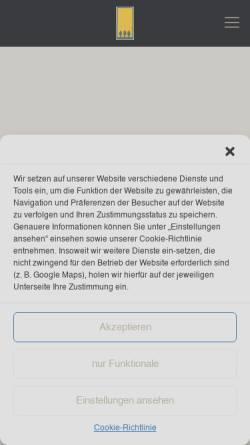 Vorschau der mobilen Webseite www.forstbaumschule.de, Restaurant und Park-Café Forstbaumschule
