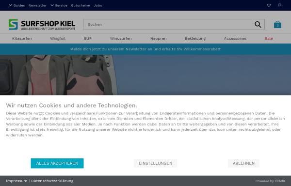 Vorschau von www.surfshop-kiel.de, Kitesurfing Kiel